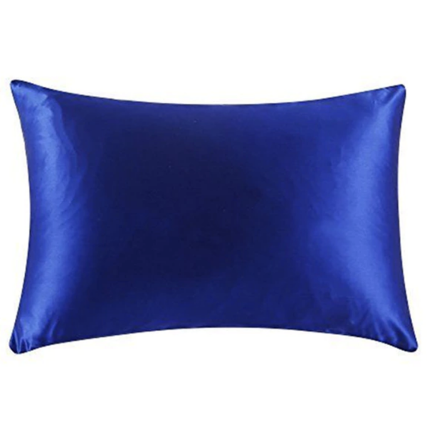blue silk pillowcase