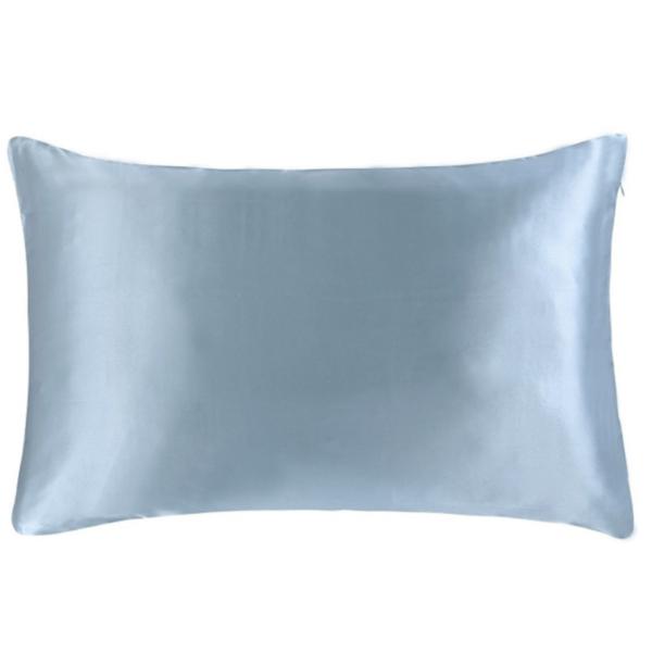 light blue silk pillowcase