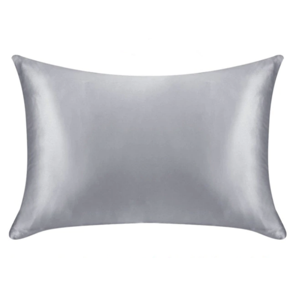 silver silk pillowcase