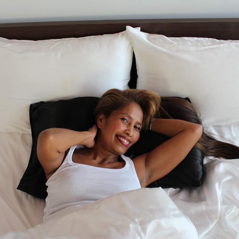 black satin pillowcase